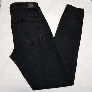 American Eagle Black Wash High Rise Jeggings